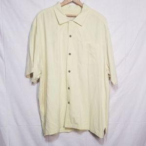 Tommy Bahama light Yellow silk shirt XL